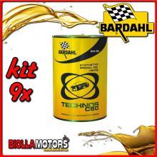 KIT 9X LITRO OLIO BARDAHL TECHNOS 5W30 C60 M-SAPS 1LT - 9x 311040