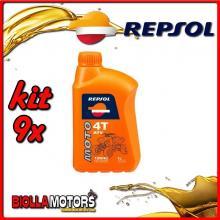 KIT 9X LITRO OLIO REPSOL MOTO ATV 4T 10W40 1LT - 9x REPSOL18