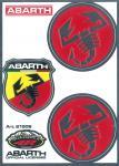 21508 ADESIVO ABARTH RACING TABS 1 SCUDETTO E 2 SCORPIONI