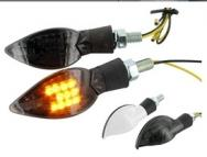 STR-696.11/WH COPPIA FRECCE STR8 CURVE BIANCHE A LED OMOLOGATE CE