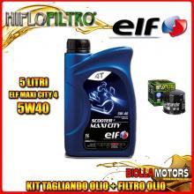 KIT TAGLIANDO 5LT OLIO ELF MAXI CITY 5W40 DUCATI 1200 Monster R 1200CC 2016- + FILTRO OLIO HF153