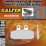 FD074G1054 PASTIGLIE FRENO GALFER ORGANICHE ANTERIORI DERBI RAMBLA 300 ie 10-