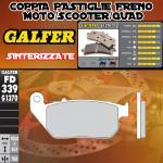 FD339G1370 PASTIGLIE FRENO GALFER SINTERIZZATE ANTERIORI PER HARLEY DAVIDSON XL 1200 V SEVENTY-TWO 12-