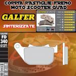 FD340G1371 PASTIGLIE FRENO GALFER SINTERIZZATE POSTERIORI PER HARLEY DAVIDSON XL 1200 V SEVENTY-TWO 12-