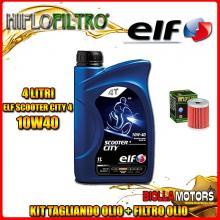 KIT TAGLIANDO 4LT OLIO ELF CITY 10W40 YAMAHA YP400 Majesty (1st Air Filter) 5RU,34B 400CC 2004-2014 + FILTRO OLIO HF132