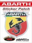 21561 ADESIVO ABARTH STICKERS PATCH SCUDETTO 74X80 MM
