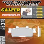 FD399G1380 PASTIGLIE FRENO GALFER SINTERIZZATE POSTERIORI TGB X - MOTION 250i 08-