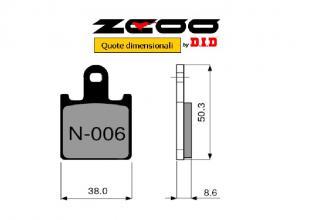 45N00600 PASTIGLIE FRENO ZCOO (N006 EX) KAWASAKI ZX-6R NINJA 2007-2014 (ANTERIORE)