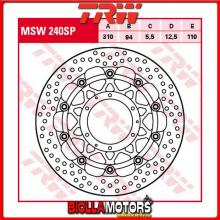 MSW240SP DISCO FRENO ANTERIORE TRW Honda CBR 600 RR 2003-2006 [FLOTTANTE - ]