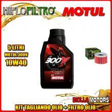 KIT TAGLIANDO 5LT OLIO MOTUL 300V 10W40 HONDA TRX650 FA Fourtrax Rincon 650CC 2003-2005 + FILTRO OLIO HF111