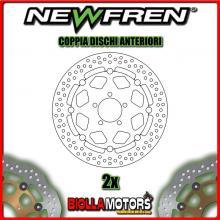 2-DF5220AF COPPIA DISCHI FRENO ANTERIORE NEWFREN KAWASAKI ZX-9 900cc R NINJA 1998-1999 FLOTTANTE