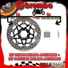 KIT-6DBL DISCO E PASTIGLIE BREMBO ANTERIORE KTM SUPERMOTO 950CC 2005- [RC+FLOTTANTE] 78B408A7+07BB33RC