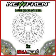 2-DF5240AF COPPIA DISCHI FRENO ANTERIORE NEWFREN DUCATI MONSTER 620cc 2005-2006 FLOTTANTE