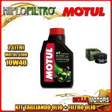 KIT TAGLIANDO 2LT OLIO MOTUL 5100 10W40 PIAGGIO 400 Beverly i.e. 400CC 2006-2008 + FILTRO OLIO HF184