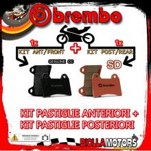 BRPADS-21301 KIT PASTIGLIE FRENO BREMBO ROYAL ENFIELD CONTINENTAL GT 2014- 535CC [GENUINE+SD] ANT + POST