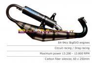 RST.294 SCARICO ROOST motori PIAGGIO / GILERA PER GRUPPI TERMICI POLINI BIG EVO 94cc SIL. CARB