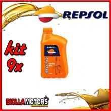 KIT 9X LITRO OLIO REPSOL MOTO FORK OIL 10W 1LT FORCELLA - 9x REPSOL21