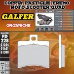 FD228G1054 PASTIGLIE FRENO GALFER ORGANICHE POSTERIORI MALAGUTI MADISON 125 R 125 06-06