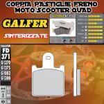 .FD371G1375 PASTIGLIE FRENO GALFER SINTERIZZATE ANTERIORI KAWASAKI ZG 1400 CONCOURS ABS 08-09