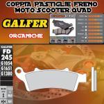 FD245G1054 PASTIGLIE FRENO GALFER ORGANICHE ANTERIORI MALAGUTI MADISON K 400 06-