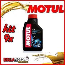 KIT 9X LITRO OLIO MOTUL 3000 4T 10W30 MINERALE PER MOTORI 4T - 9x 104042