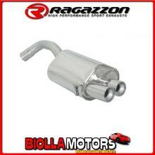 58.0120.26 SCARICO Evo Alfa Romeo 147 GTA 3.2 V6 24V (184kW) dal 2002> Posteriore inox con terminali rotondi 2x80 mm