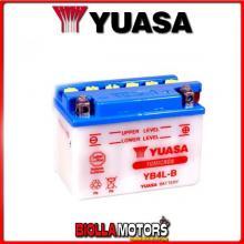 E01112K BATTERIA YUASA YB4L-B SENZA ACIDO YB4LB MOTO SCOOTER QUAD CROSS