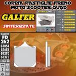 FD262G1375 PASTIGLIE FRENO GALFER SINTERIZZATE ANTERIORI DERBI MULHACEN 650 06-