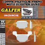 FD252G1054 PASTIGLIE FRENO GALFER ORGANICHE POSTERIORI DERBI SENDA DRD 125 SM 4T 4V 09-