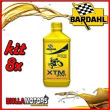 KIT 8X LITRO OLIO BARDAHL XTM SYNT 10W40 LUBRIFICANTE PER MOTO 4T 1LT - 8x339041