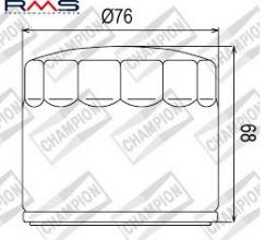100609725 COF072c FILTRO OLIO PER HARLEY Davidson XLH883 (up to early 1984) 80-84