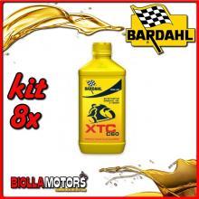 KIT 8X LITRO OLIO BARDAHL XTC C60 10W40 LUBRIFICANTE PER MOTO 4T 1LT - 8x326141
