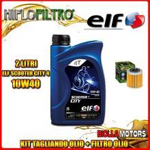 KIT TAGLIANDO 2LT OLIO ELF CITY 10W40 HUSQVARNA SM450 R 450CC 2008-2010 + FILTRO OLIO HF563