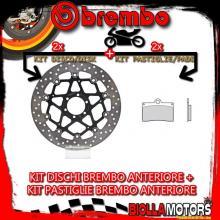 KIT-6HFQ DISCO E PASTIGLIE BREMBO ANTERIORE BIMOTA YB 7 400CC 1989- [SC+FLOTTANTE] 78B40870+07BB15SC