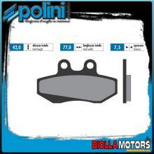 174.0055 PASTIGLIE FRENO POLINI ANTERIORE MOTORHISPANIA RX 50 RACING 50CC 2004-2005 ORGANICA