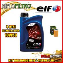 KIT TAGLIANDO 3LT OLIO ELF MOTO TECH 10W50 KTM 450 EXC 450CC 2012-2016 + FILTRO OLIO HF655