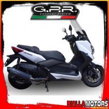TERMINALE GPR YAMAHA X-MAX 400 I.E. 400CC 2013-2017 OMOLOGATO/APPROVED GPE NERO ITALIA (INOX) YA.1.GPAN.NE