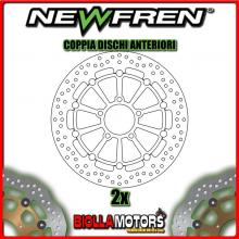 2-DF5228AF COPPIA DISCHI FRENO ANTERIORE NEWFREN KAWASAKI KLV 1000cc 2004-2007 FLOTTANTE