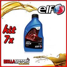 KIT 7X LITRO OLIO ELF MOTO TECH 10W50 100% SINTETICO - 7x 201736