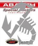 21587 ADESIVO ABARTH PREFUSTELLATI HQ SCORPIONE ARGENTO 160MM