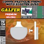 FD124G1651 PASTIGLIE FRENO GALFER PREMIUM ANTERIORI CSR CRUISER 250 AUTOMATICA 06-