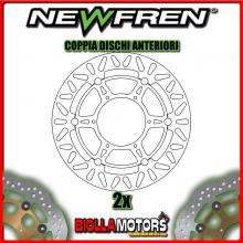 2-DF5190AF COPPIA DISCHI FRENO ANTERIORE NEWFREN BMW F 800cc GS 2009-2016 FLOTTANTE