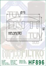 HF896 FILTRO OLIO URAL CT 750 CC 2015 HIFLO