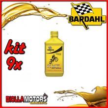 KIT 9X LITRO OLIO BARDAHL KXT OFF ROAD LUBRIFICANTE 2T RACING PER MOTO 1LT - 9x 229039