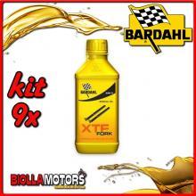 KIT 9X 500ML OLIO BARDAHL XTF FORK SPECIAL OIL 10W PER FORCELLA 1/2 LT - 9x 442032