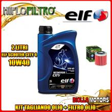 KIT TAGLIANDO 2LT OLIO ELF CITY 10W40 HUSQVARNA SM250 R 250CC 2007- + FILTRO OLIO HF154