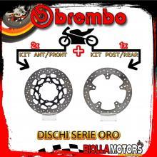 BRDISC-2570 KIT DISCHI FRENO BREMBO BMW F 700 GS 2016- 800CC [ANTERIORE+POSTERIORE] [FLOTTANTE/FISSO]