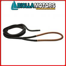 3101956 DOCK LINE BLACK D32 L20 EYE100 BLACK Custom Dock Line Nera con Gassa