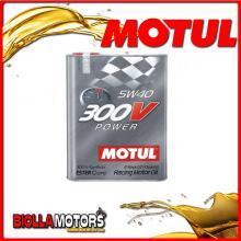 104242 2 LITRO OLIO MOTUL 300V POWER 5W40 100% SINTETICO PER AUTO