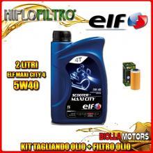 KIT TAGLIANDO 2LT OLIO ELF MAXI CITY 5W40 HUSQVARNA SMR449 449CC 2011-2012 + FILTRO OLIO HF611